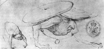Hieronymus Bosch. Sketches of the monsters