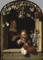 Франц ван Мирис Старший. Мальчик, выдувающий мыльные пузыри