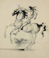 Сальвадор Дали 1904 - 1989 Испания. Конь и всадник.  1935