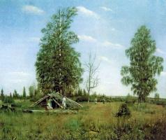 Александр Иванович Морозов. Отдых на сенокосе