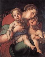 Якопо Понтормо. Мадонна с младенцем и Святым Иоанном