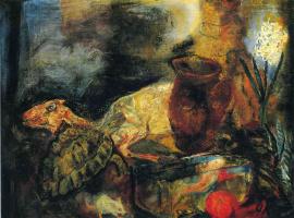 Оскар Кокошка. Натюрморт с убитым ягненком