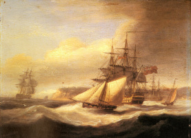 Томас Луни. Военные корабли в плавании