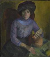 Роберт Рафаилович Фальк. Женщина в лиловом. Портрет Е.С.Потехиной