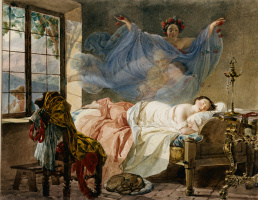Karl Pavlovich Bryullov. The dream of a young girl before dawn