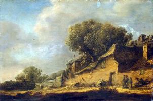 Ян ван Гойен. Пейзаж с крестьянской хижиной
