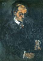 Oskar Kokoschka. A man with glasses