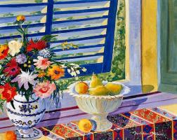 Мишелин Хилаир. Натюрморт с цветами