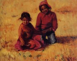 Сильвия Арайя. Дети в поле