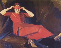 Мартирос Сергеевич Сарьян. Женщина в маске (с.И. Дымшиц)