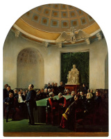 Адольф Игнатьевич Ладюрнер. Торжественное собрание Академии художеств в 1839 году