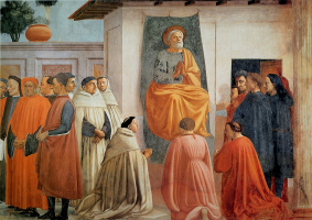 Tommaso Masaccio. Saint Peter in the pulpit