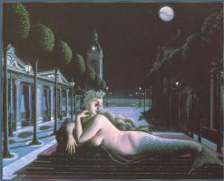 A siren in full moonlight