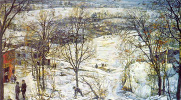 Исаак Израилевич Бродский. Зима