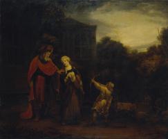 Фердинанд Балтасарс Боль. Изгнание Агари из дома Авраама