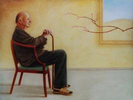 Ричард Бакстер. Мужчина на стуле