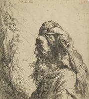 Ян Ливенс. Портрет старика в тюрбане