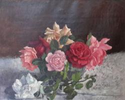 Ilya Ivanovich Mashkov. Roses