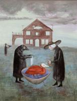 Леонора Каррингтон. Птичьи ванночки (холст)
