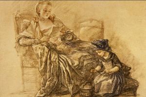Жан Батист Симеон Шарден. Читающая девушка и играющая девочка