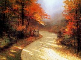 Томас Кинкейд. Осенний переулок