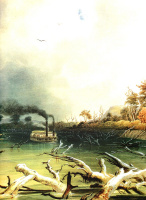 Карл Бодмер. Препятствия на реке Миссури