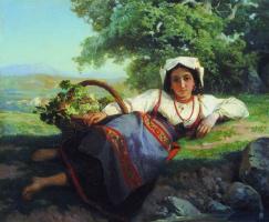 Vasily Petrovich Vereshchagin. Girl with grapes