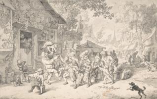 Корнелис Дюсарт. Путники в деревне