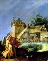 Абрахам Блумарт. Пейзаж с Товием и ангелом