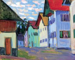 Gabriel Munter. Street in Murnau