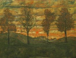 Egon Schiele. Trees