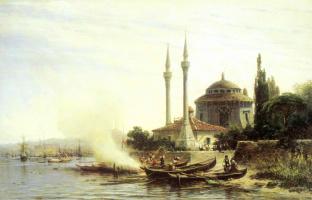 Alexey Petrovich Bogolyubov. Golden Horn in Constantinople