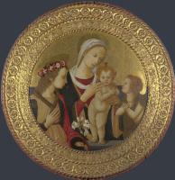 Флорентийский Итальянский. Дева с младенцем и святыми