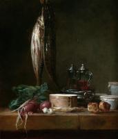 Жан Батист Симеон Шарден. Натюрморт с рыбой и овощами
