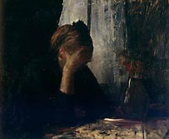 Мария Константиновна Башкирцева. За столом