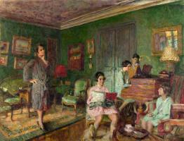 Jean Edouard Vuillard. Madame Andre Wormser and her children