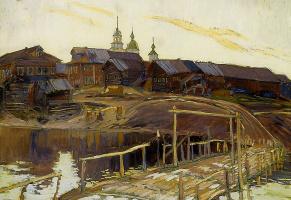 Vasily Vasilevich Pereplyotchikov. Shore of Onega, on a Sunny day