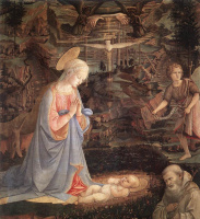Фра Филиппо Липпи. Поклонение младенцу со святыми