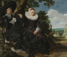 Франс Хальс. Портрет молодой пары (возможно, свадебный портрет Исаака Массы и его жены)