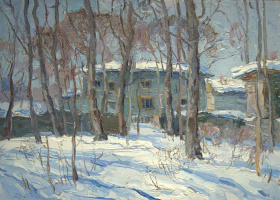 Boris Petrovich Zakharov. The sun of the old Sokolniki. Etude.