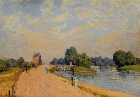 Alfred Sisley. The road from HAMPTON Court