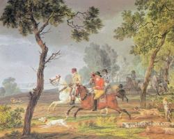 Вильгельм Александр Вольфганг фон Кобелль. Травля зайцев