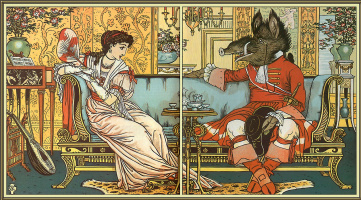 Walter Crane. Beauty and the beast