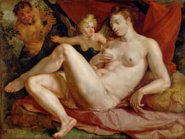 Хендрик Гольциус. Венера и Амур или Юпитер и Антиопа. 1616