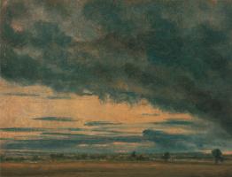John Constable. Clouds over the plain. Etude