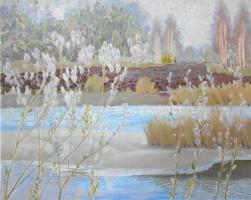 Александр Трофимович Бердюгин. Весна на реке