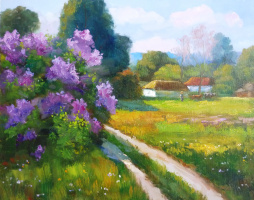 Марина Эдиковна Лалаян. Весна в деревне