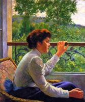 Федерико Дзандоменеги. Ожидание (Женщина у окна)