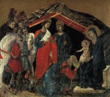 Дуччо ди Буонинсенья. Поклонение младенцу