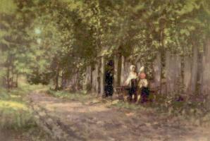 Николае Григореску. Девушки перед воротами